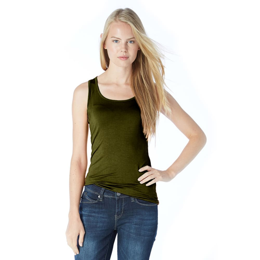 ZENANA Juniors' Double Scoop Tank - EQT GREEN
