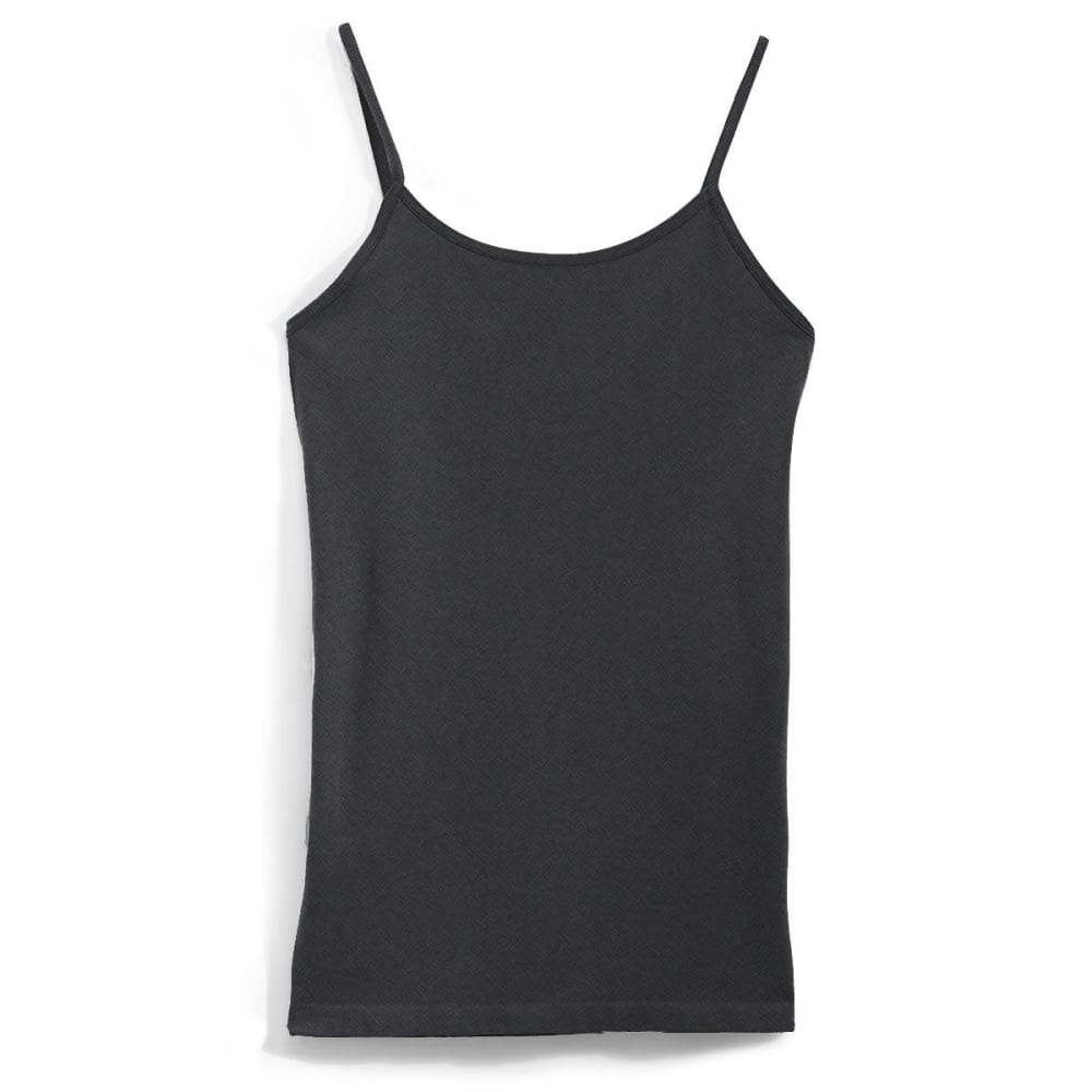 POOF Juniors' Shelf Bra Tank Top - CHARCOAL HEATHER