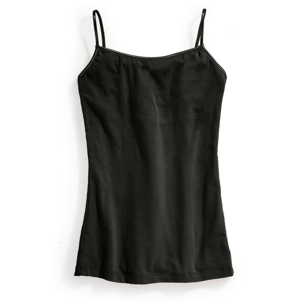 AMBIANCE Juniors' Camisole Tank Top - BLACK