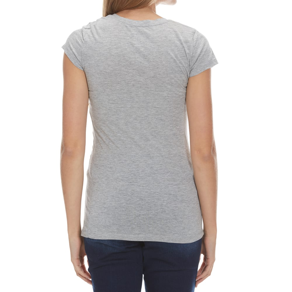 ACTIVE BASIC Juniors' V-Neck Tee - BLOWOUT - NINE IRON