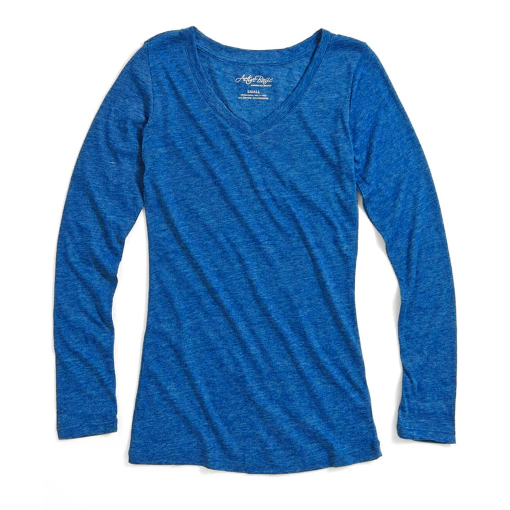 Active Basic Juniors' V-Neck Tee - - Blue, L