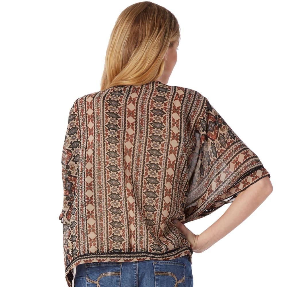 ANGIE Juniors' Tribal Print Kimono - ASSORTED