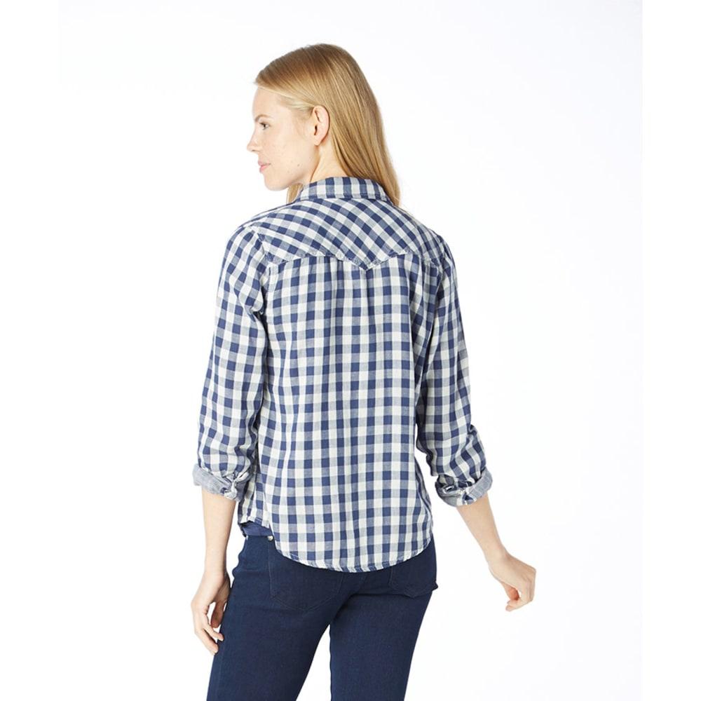 VANILLA STAR Juniors' Plaid Mix Check Shirt - BLUE