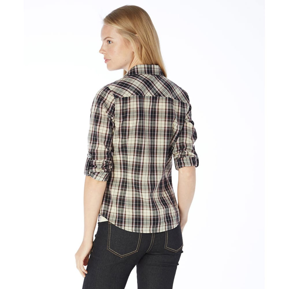 AMBIANCE Juniors' Plaid Shirt - BROWN