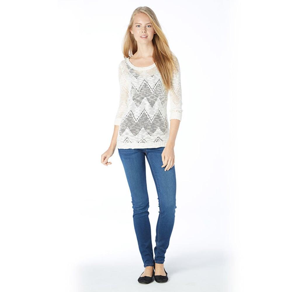 PINK ROSE Juniors' Chevron Design Sweater - IVORY