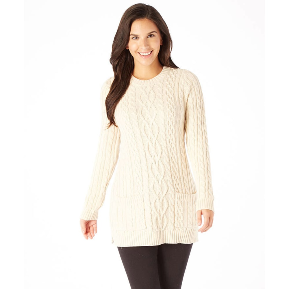 JEANNE PIERRE Women's Cable Tunic Sweater - SAND