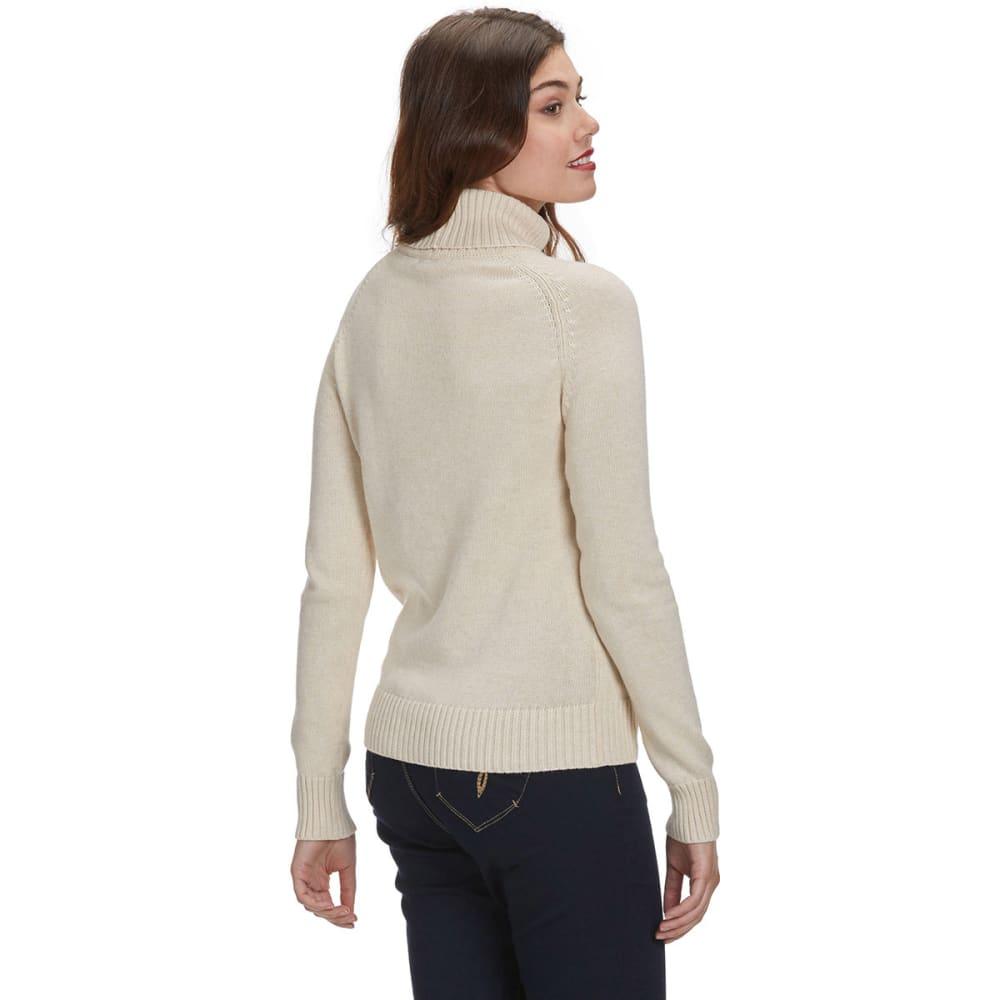 JEANNE PIERRE Women's Perfect Turtleneck Sweater - BEIGE