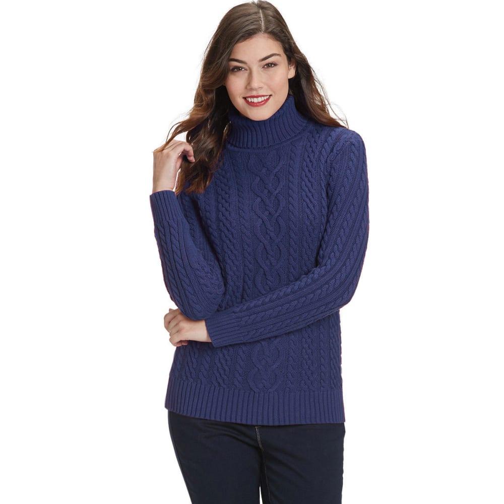 JEANNE PIERRE Women's Fisherman Turtleneck Sweater - SCATTER/VOLCANO