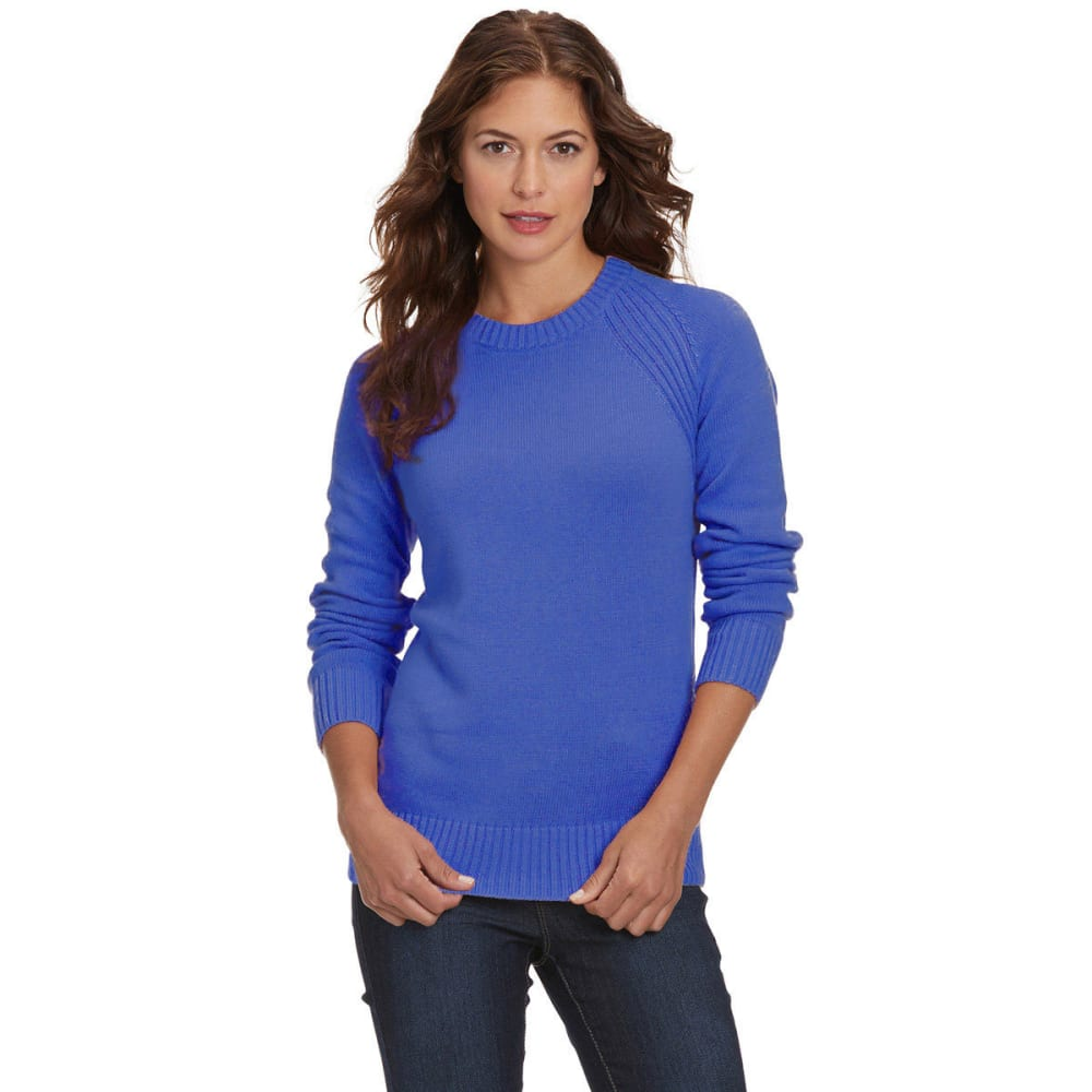 JEANNE PIERRE Women's Perfect Crewneck Sweater - BLUE
