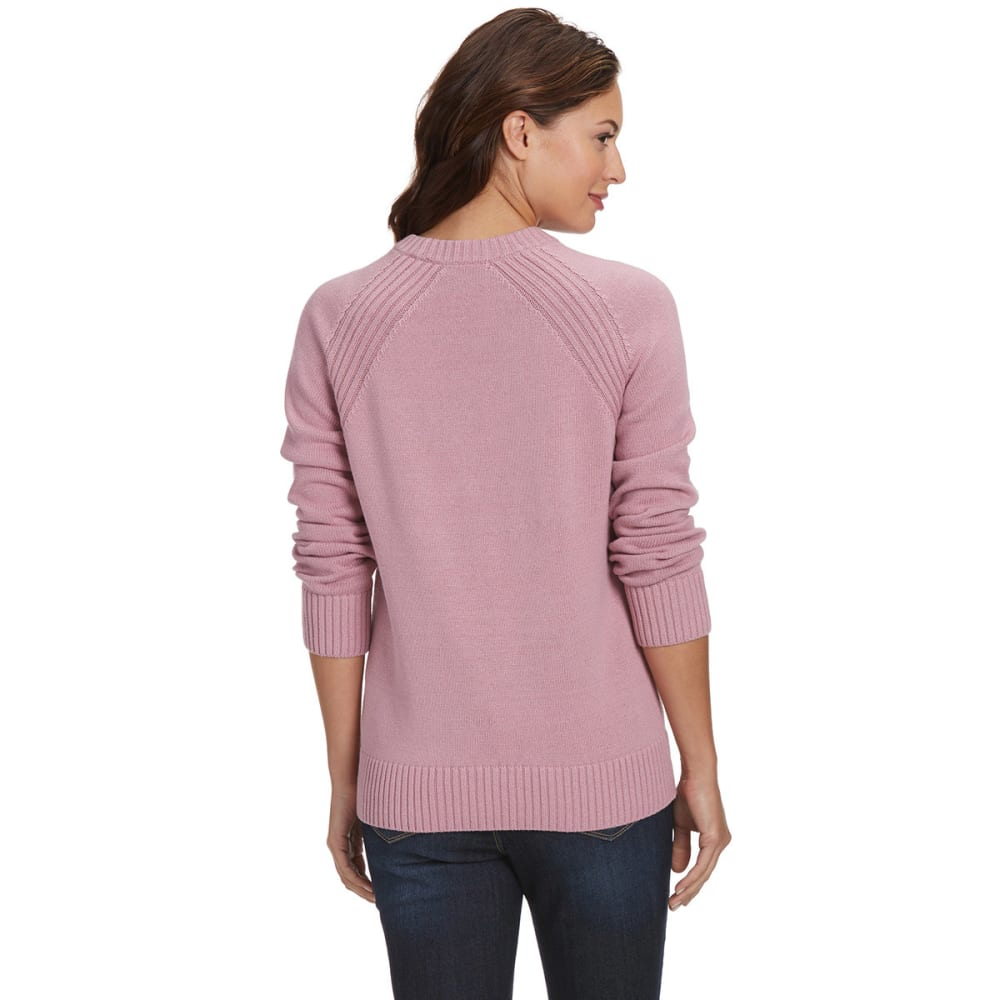 JEANNE PIERRE Women's Perfect Crewneck Sweater - BLUSH