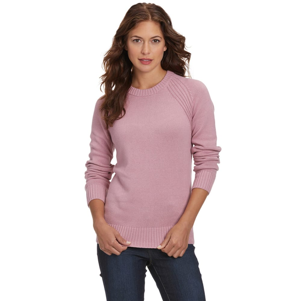 JEANNE PIERRE Women's Perfect Crewneck Sweater - BLUSH