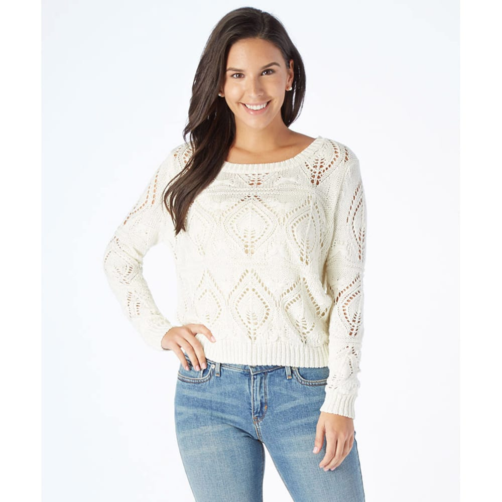 DOWNTOWN COALITION Women's Pointelle Sweater - IVORY