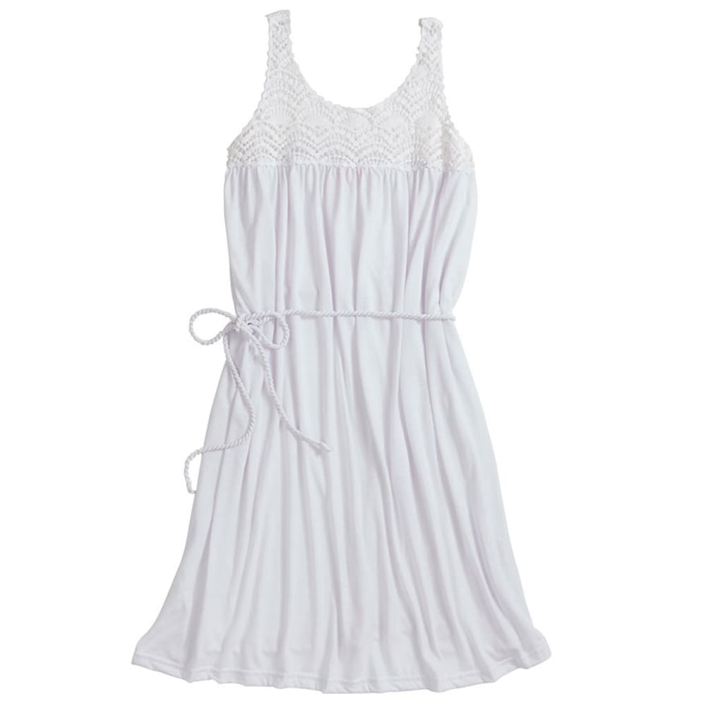 NINETY Women's Crochet Dress - WHITE