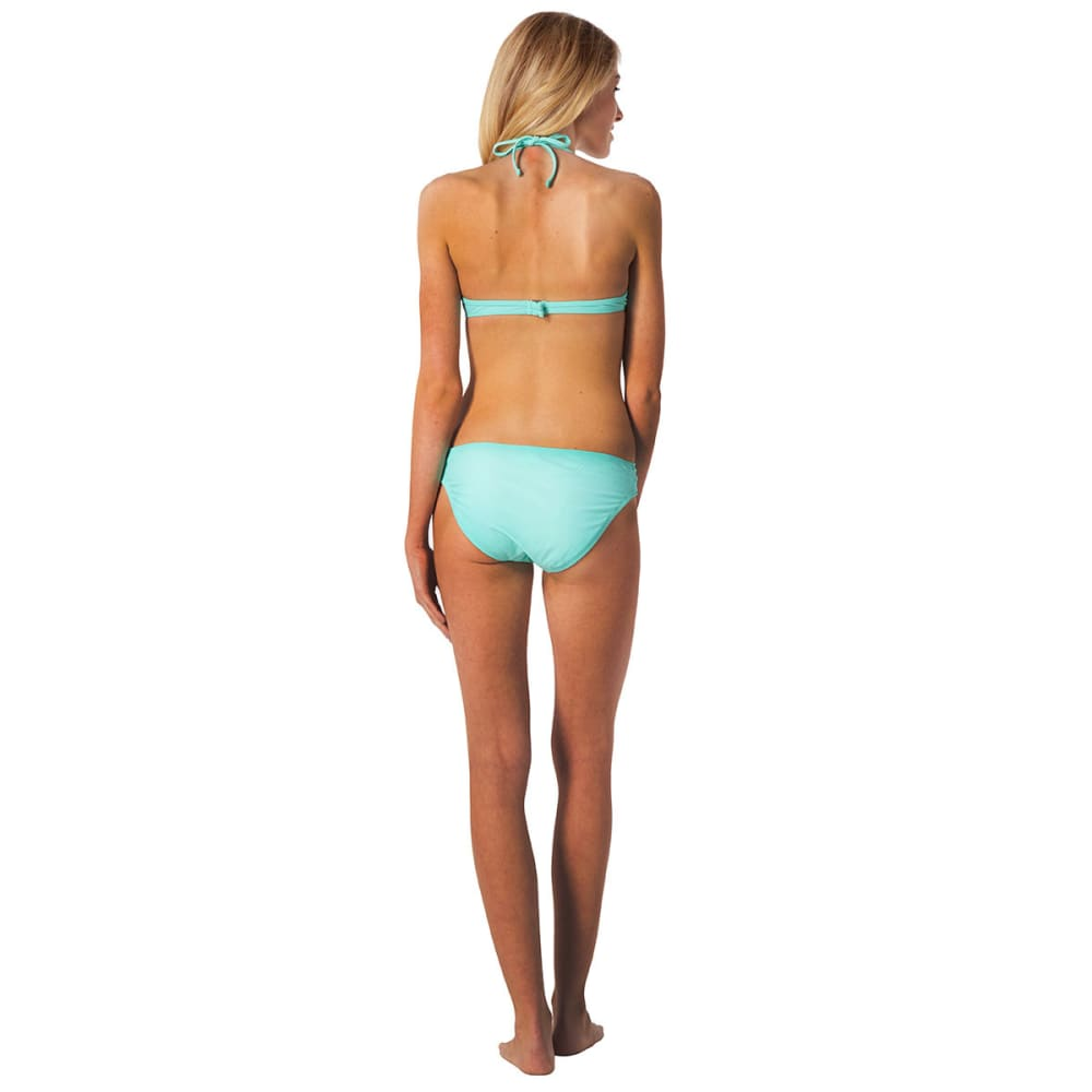 HOT WATER Juniors' Tunnel Hipster Swim Bottoms - BLOWOUT - SEABREEZE