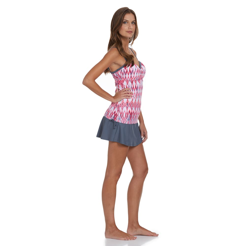 FREE COUNTRY Women's Heat Wave Underwire Tankini Top - CORAL
