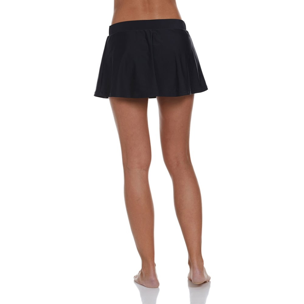 FREE COUNTRY Women's Belted Skirtini Bottoms - BLACK/WHITE