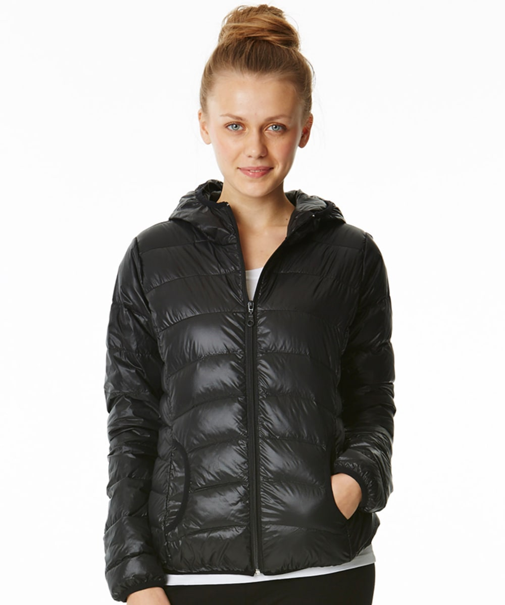 ACTIVE BASIC Packable Down Jacket - BLACK