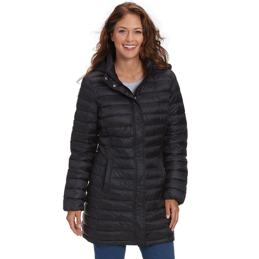 32 DEGREES Women's Long Packable Down Jacket - BLACK