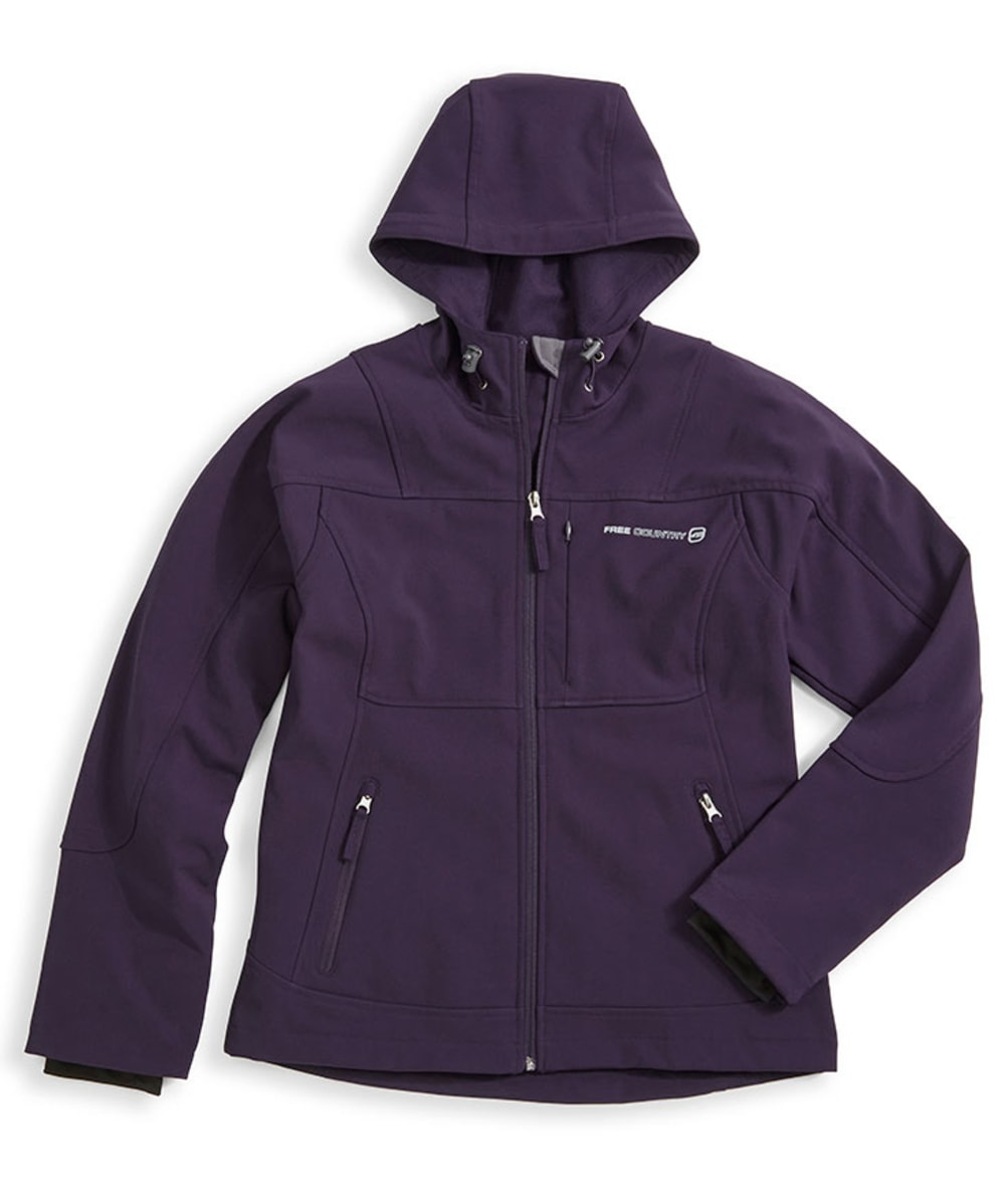 ZEROXPOSUR Women's Hooded Softshell Jacket - BLOWOUT - PURPLE MOON