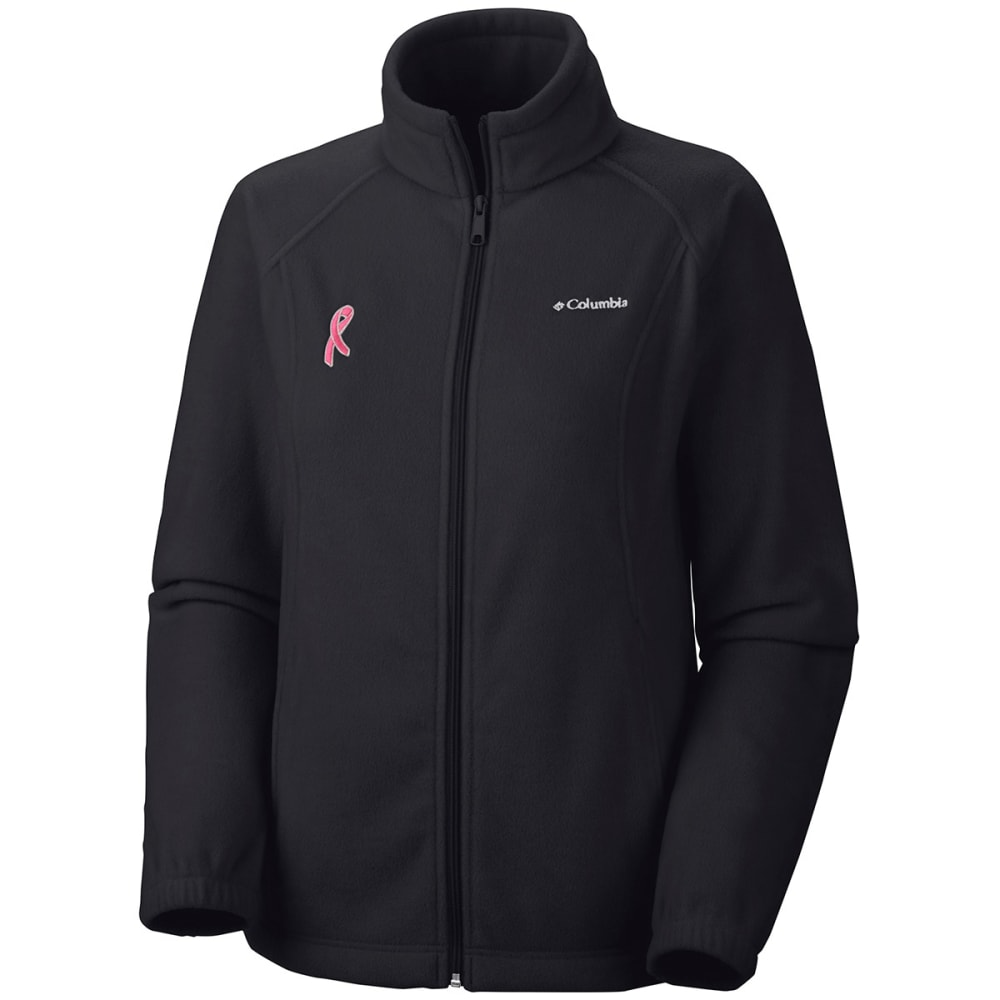 Columbia Women's Tested Tough In Pink Benton Springs Full Zip Jacket - Black, S