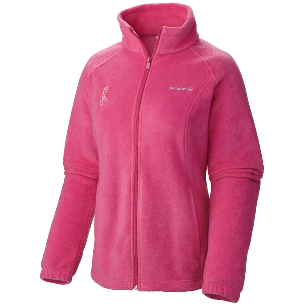 COLUMBIA Women's Tested Tough in Pink Benton Springs Full Zip Jacket - VALUE DEAL - -695 PINK ICE