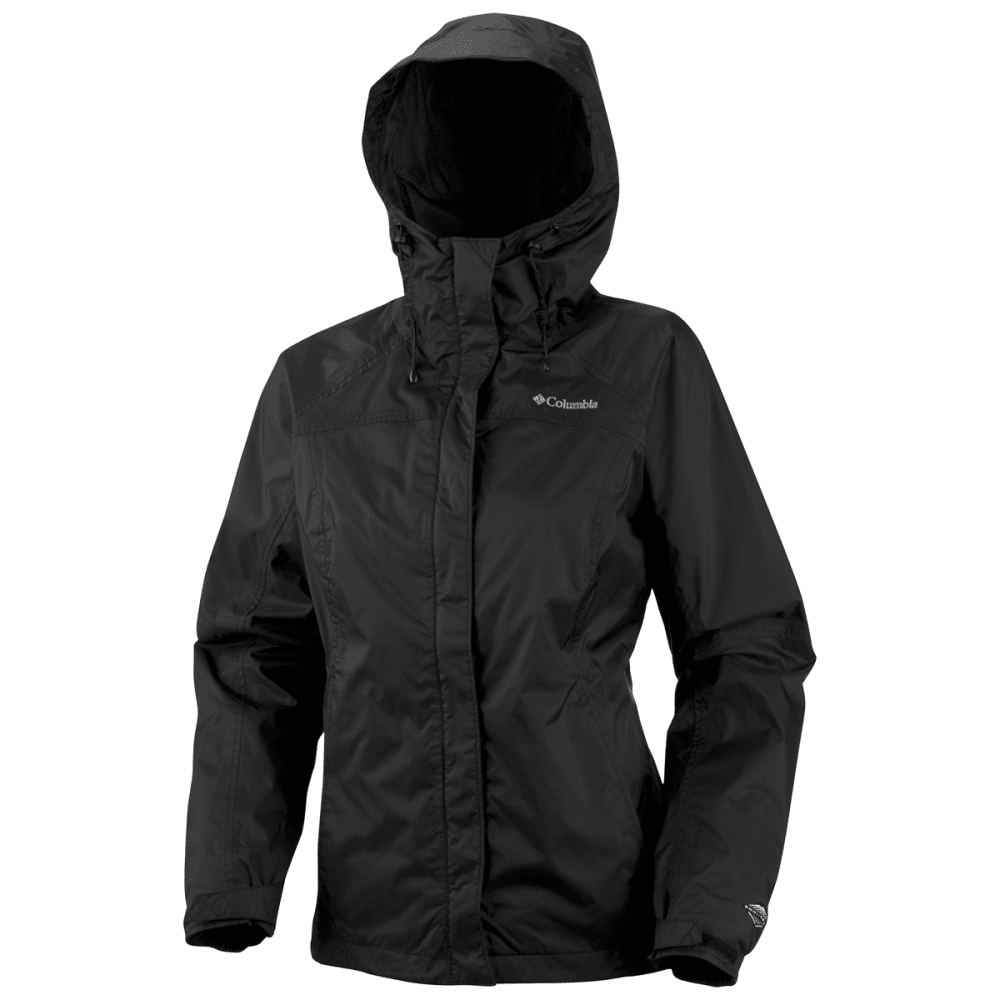 COLUMBIA Women's Arcadia Rain Jacket - BLACK