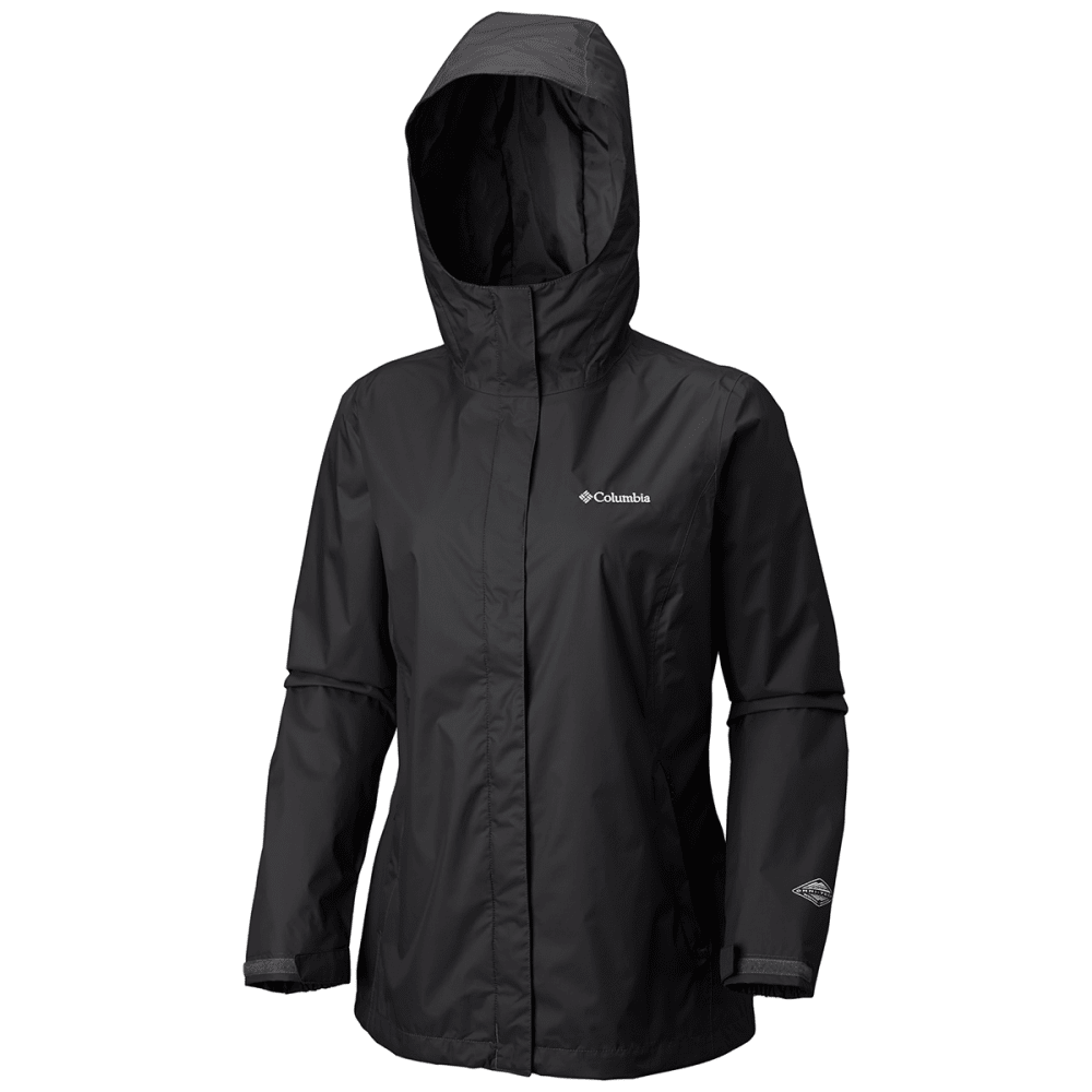 COLUMBIA Women's Arcadia Rain Jacket - 010-BLACK