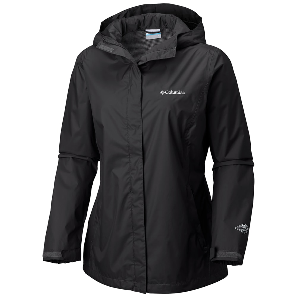 Columbia Women's Arcadia Rain Jacket - Black, L