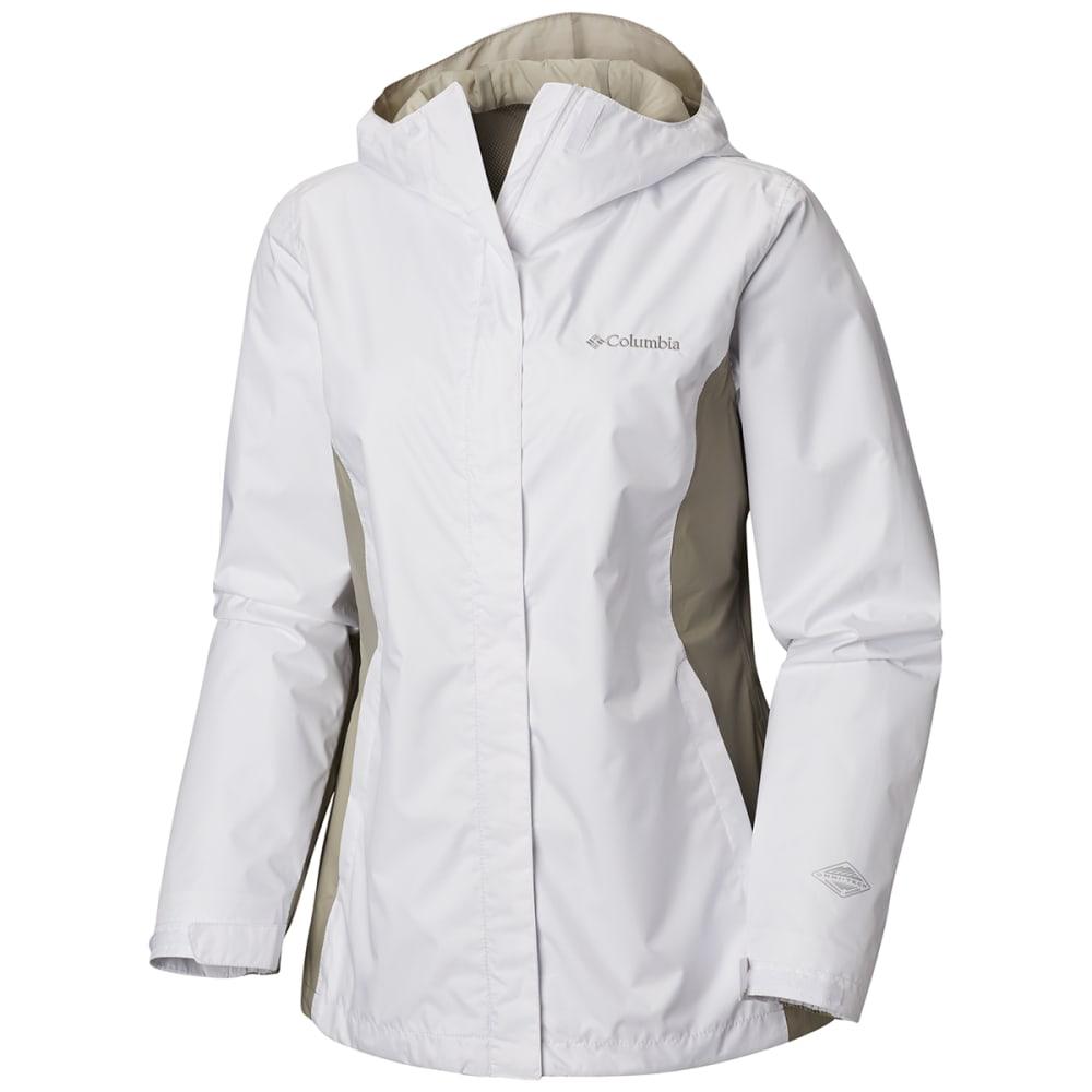 Columbia Women's Arcadia Rain Jacket - White, L