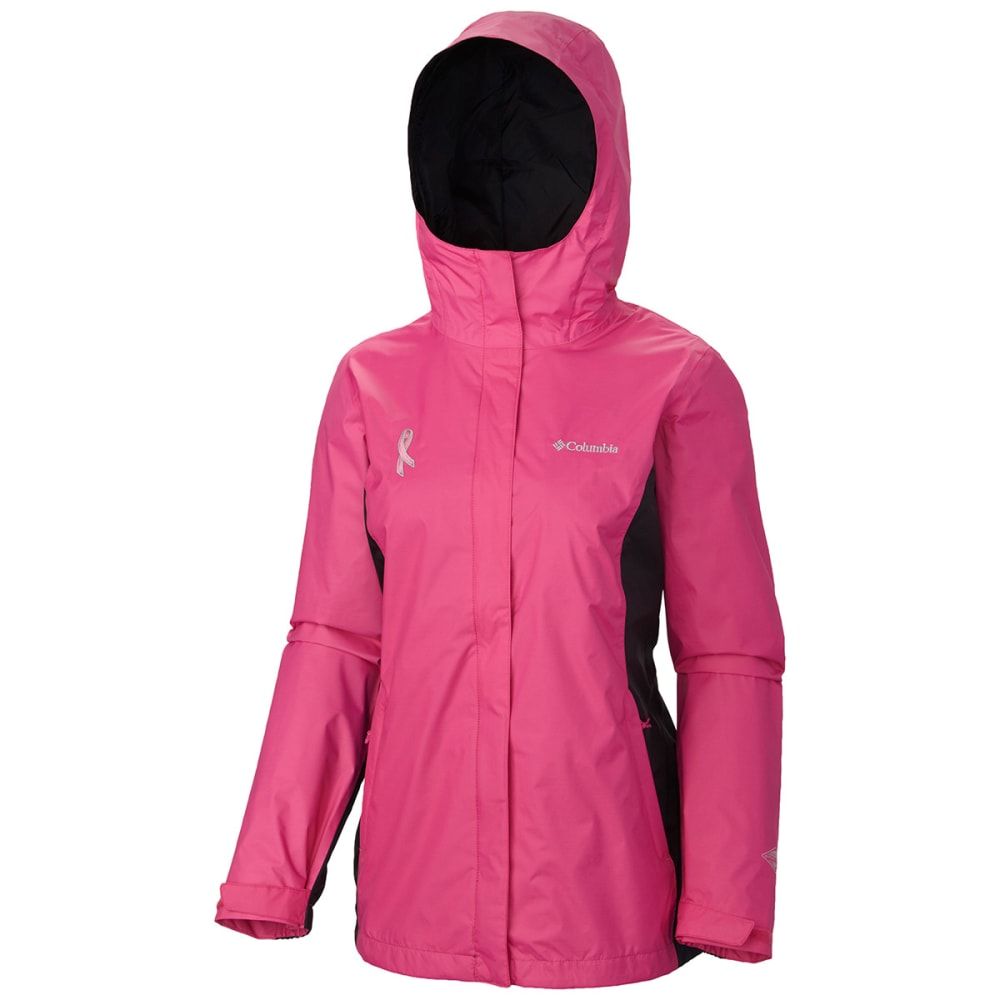 COLUMBIA Women's Tested Tough in Pink II Rain Jacket - VALUE DEAL - 695-PINK ICE
