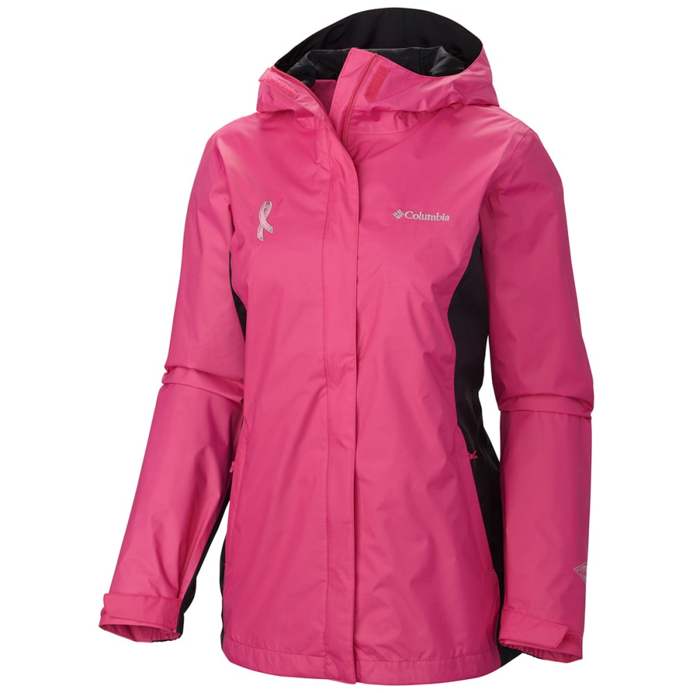 COLUMBIA Women's Tested Tough in Pink II Rain Jacket - VALUE DEAL - -695 PINK ICE
