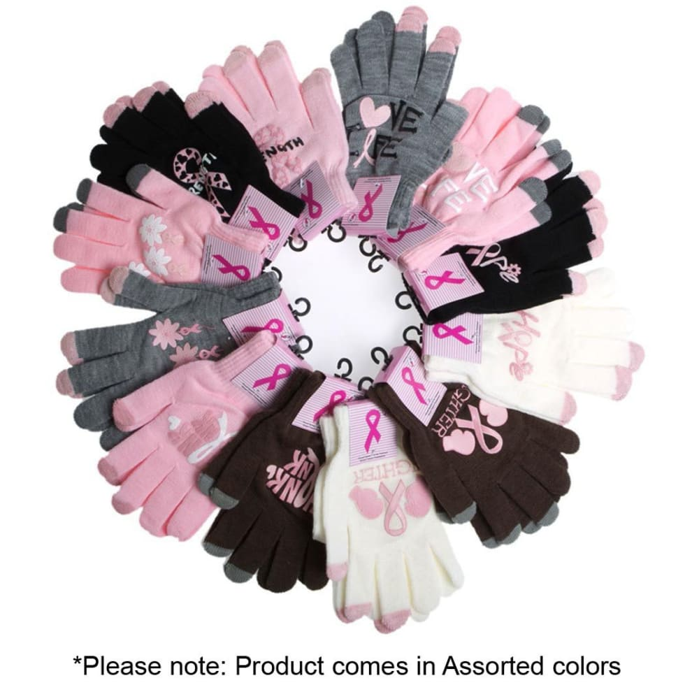 GINA GROUP Women's Breast Cancer Awareness Gloves - TEAL