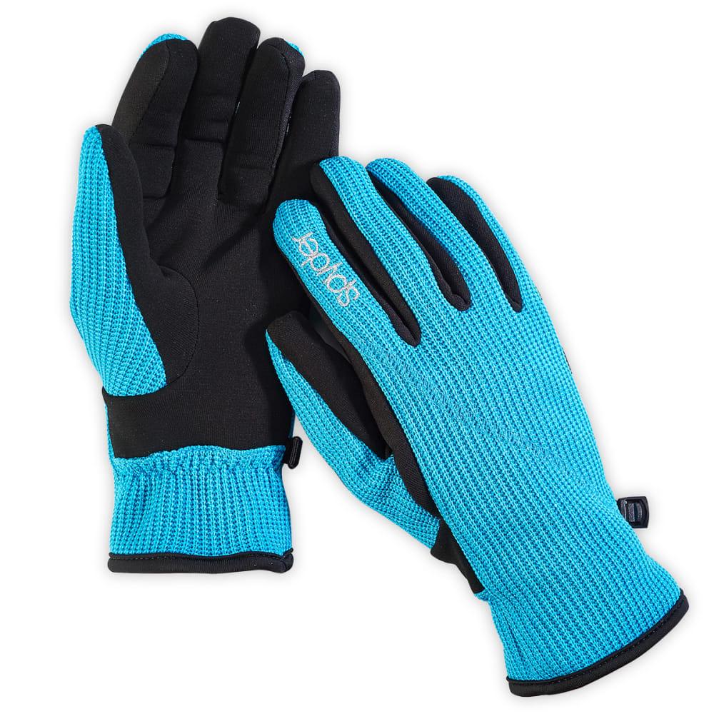 SPYDER Juniors' Sweater Conduct Gloves - BLUE