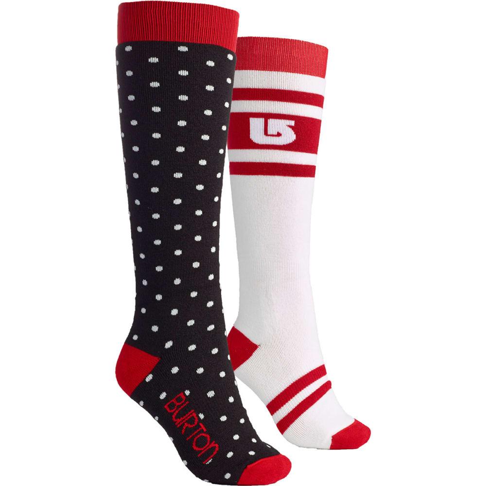 BURTON Women's Weekend Socks, 2 Pack - BLACK