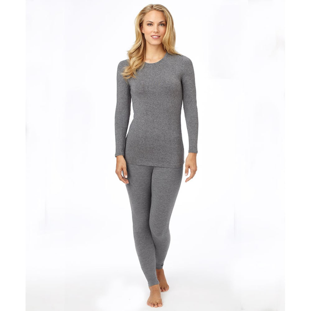 CUDDL DUDS Women's Softwear Crew Neck Top - CHARCOAL HEATHER