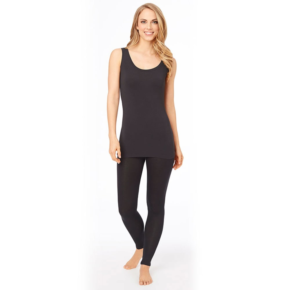 CUDDL DUDS Women's Softwear Stretch Reversible Tank - BLACK