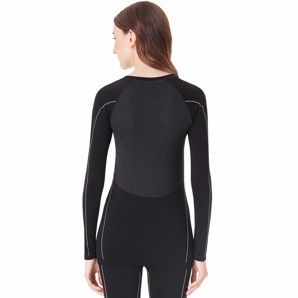 CUDDL DUDS Women's BodyBase™ Seamless Long-Sleeve Crew - BLACK