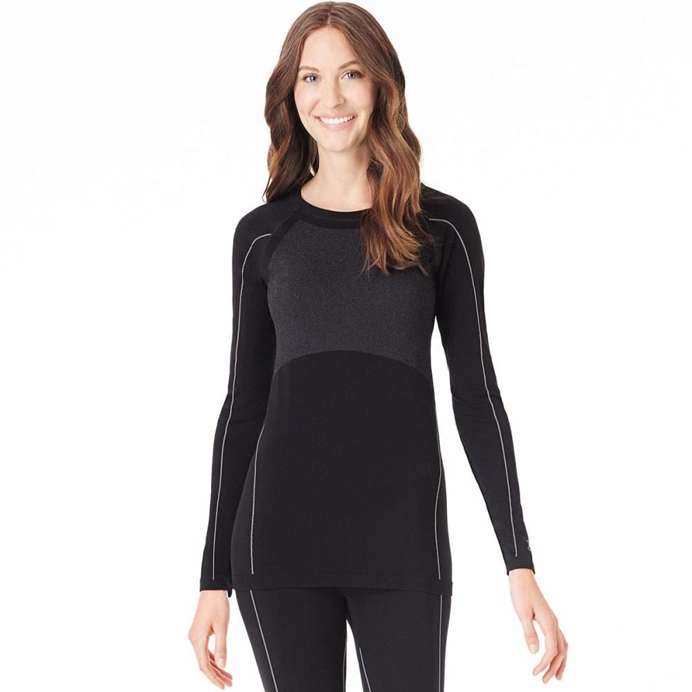 CUDDL DUDS Women's BodyBase™ Seamless Long-Sleeve Crew - BLACK