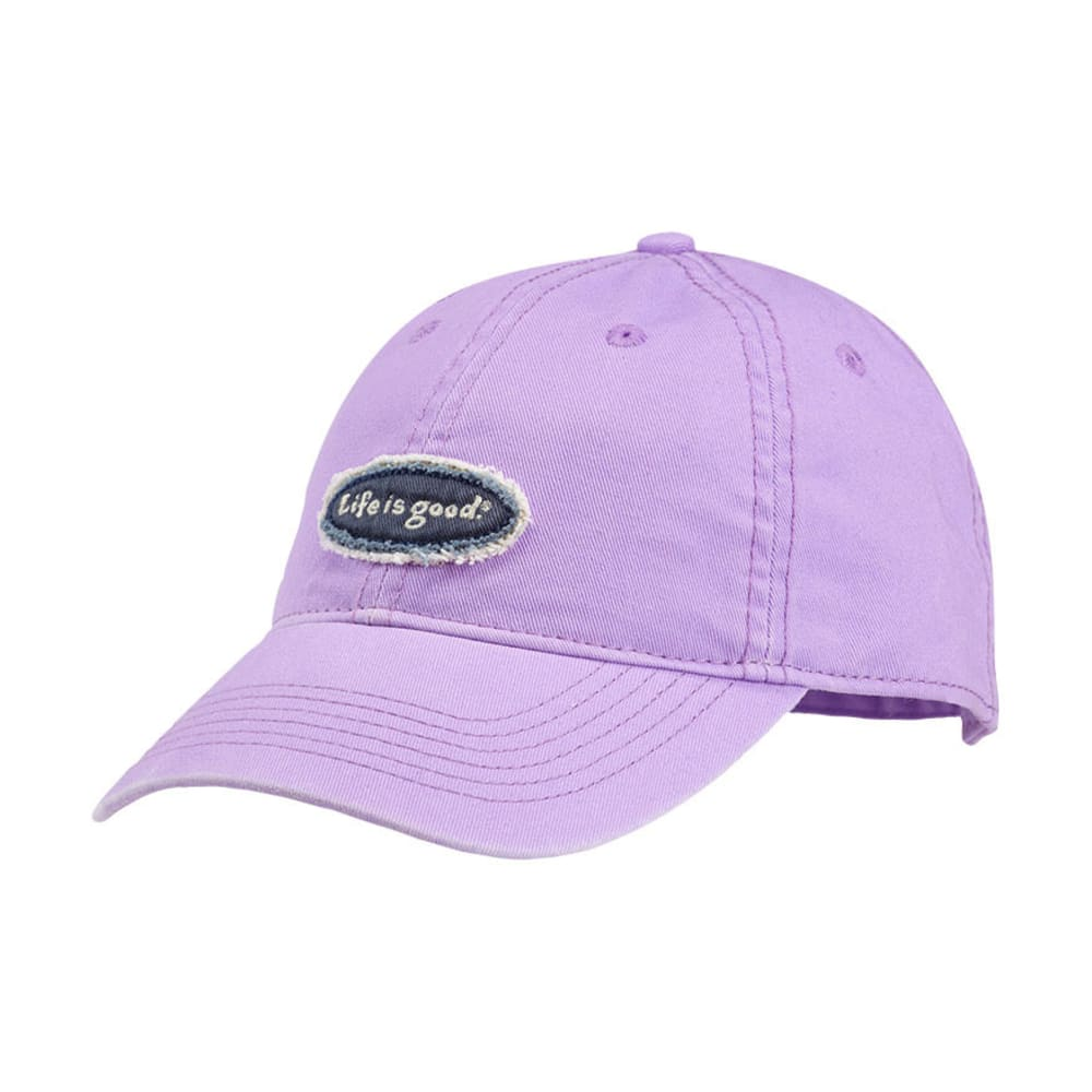 LIFE IS GOOD Women's Tattered Oval Chill Cap - SOFT PURPLE