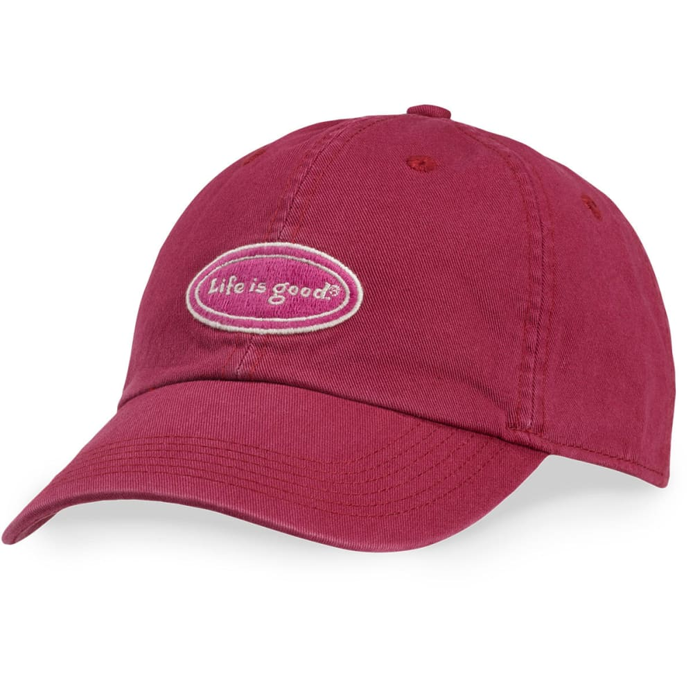 LIFE IS GOOD Women's Oval Chill Cap - CHERRY RED