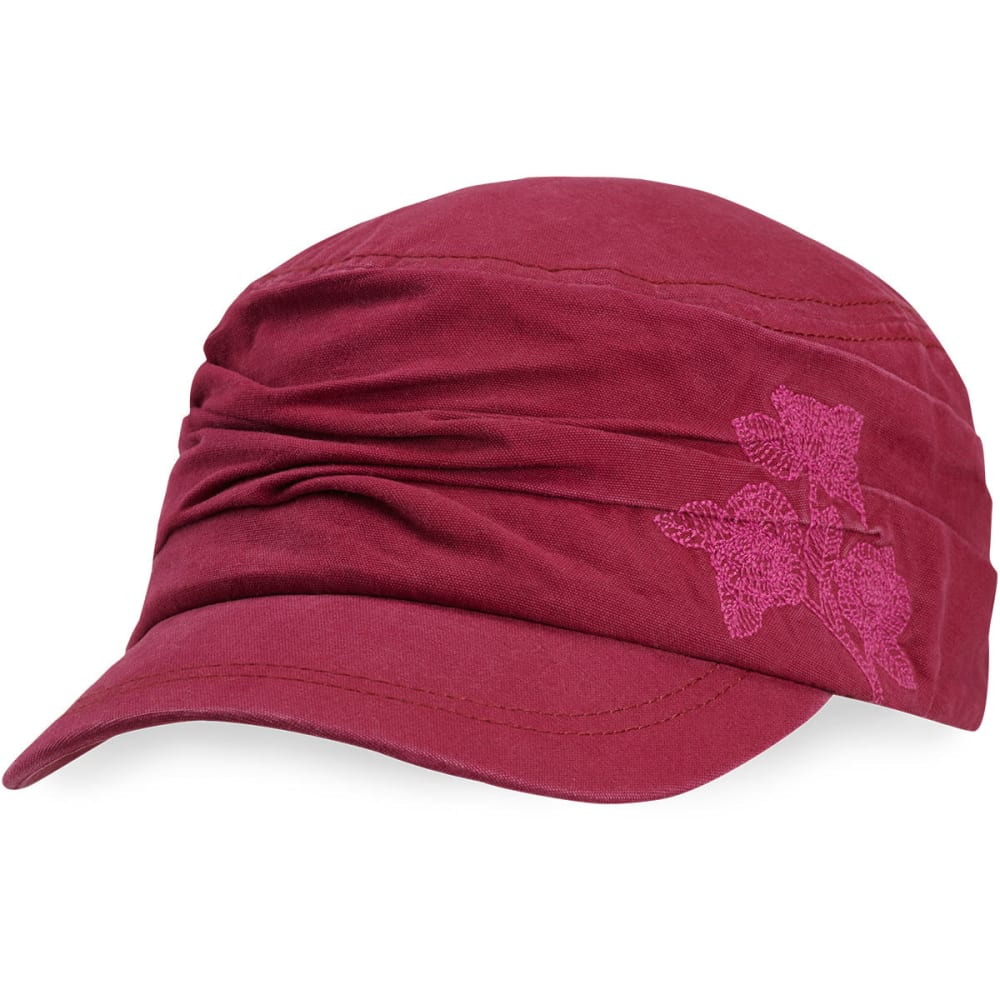 LIFE IS GOOD Women's Ruched Cadet Cap - CHERRY RED