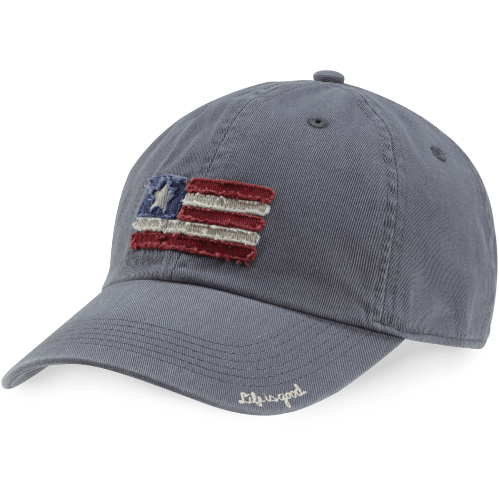 LIFE IS GOOD Women's Tattered Chill Cap - GREY
