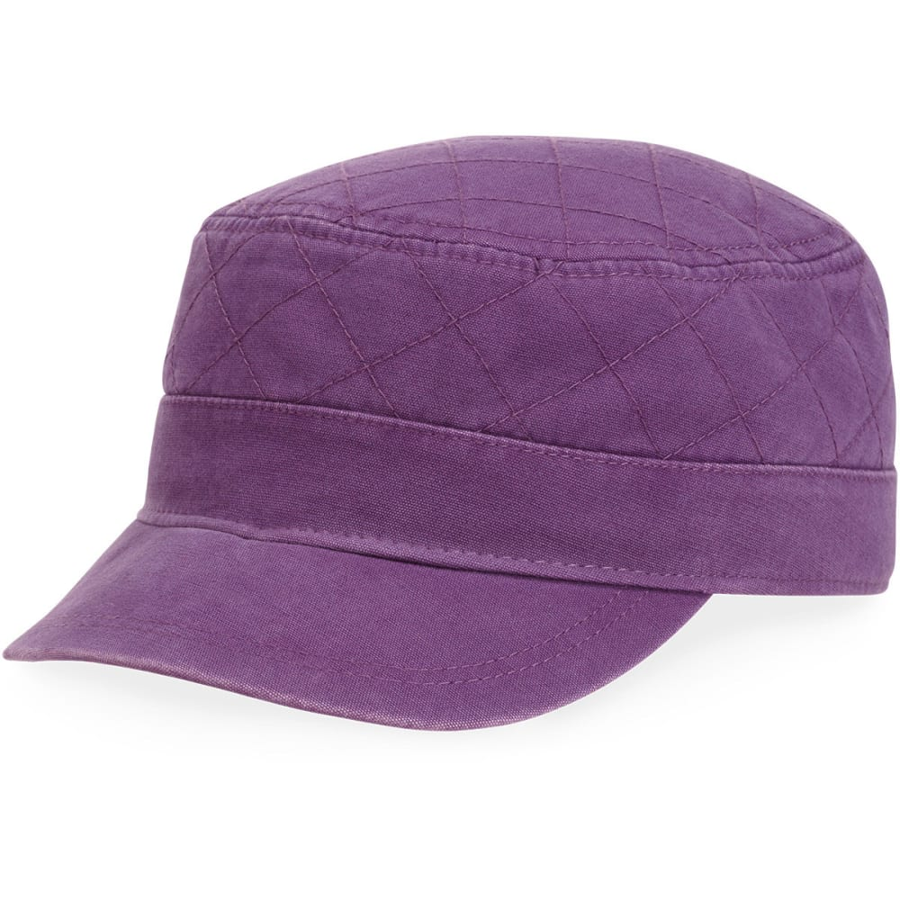 LIFE IS GOOD Women's Quilted Cadet Cap - PLUM
