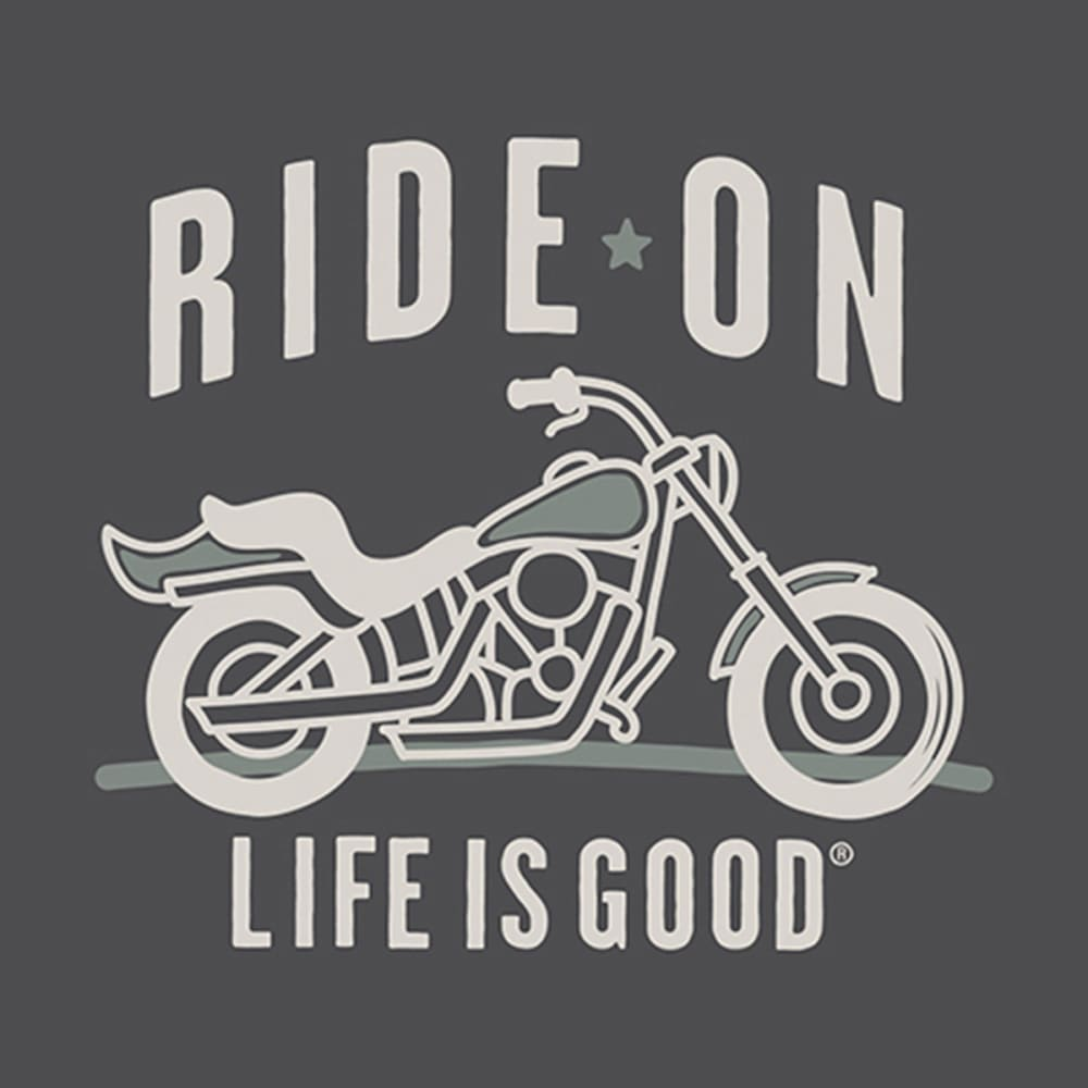 LIFE IS GOOD Ride on Motorcycle Chill Cap - NIGHT BLACK
