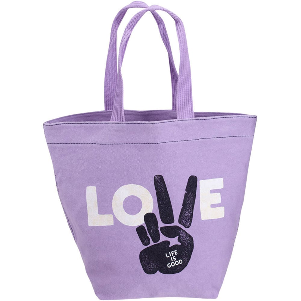 LIFE IS GOOD All Good Love Tote - SOFT PURPLE