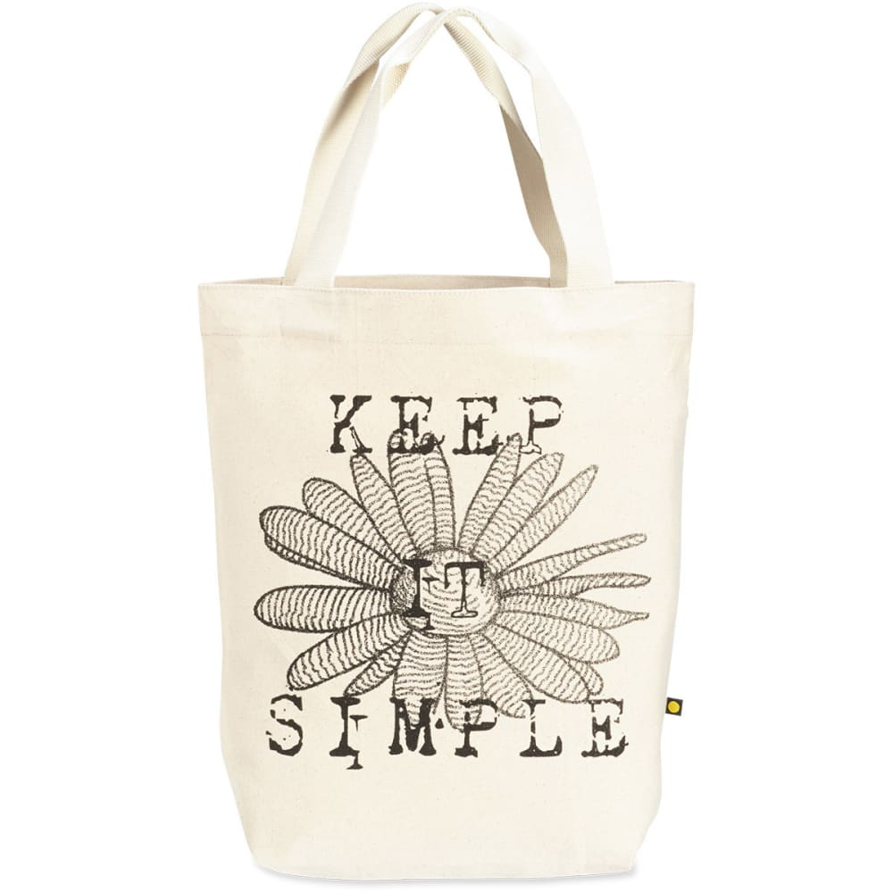 LIFE IS GOOD Women's Simple Daisy Canvas Tote - BEIGE