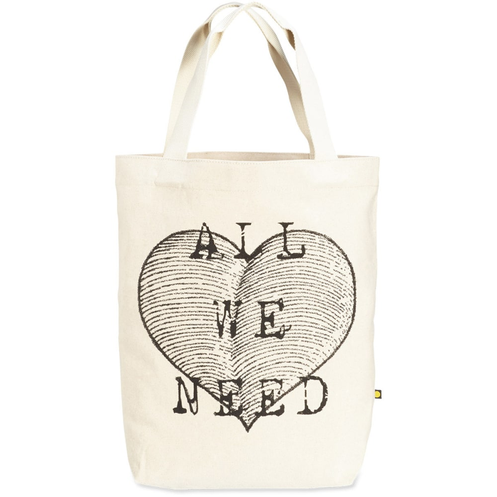 LIFE IS GOOD Women's All We Need Heart Canvas Tote - BEIGE