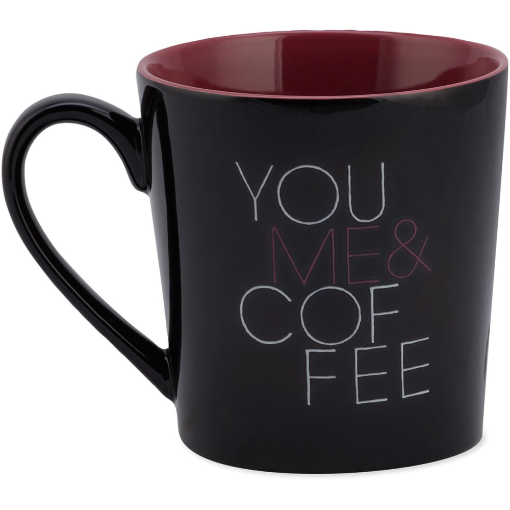 LIFE IS GOOD Women's You & Me & Coffee Everyday Mug - NIGHT BLACK