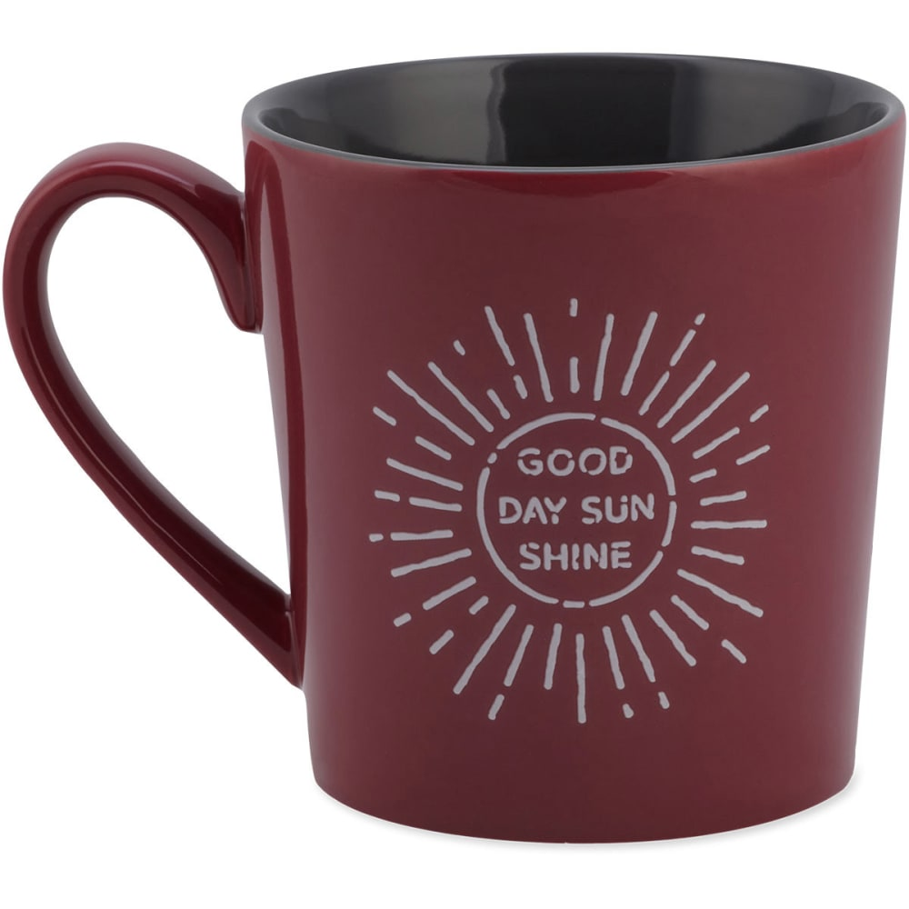 LIFE IS GOOD Good Day Sunshine Everyday Mug - CHERRY RED