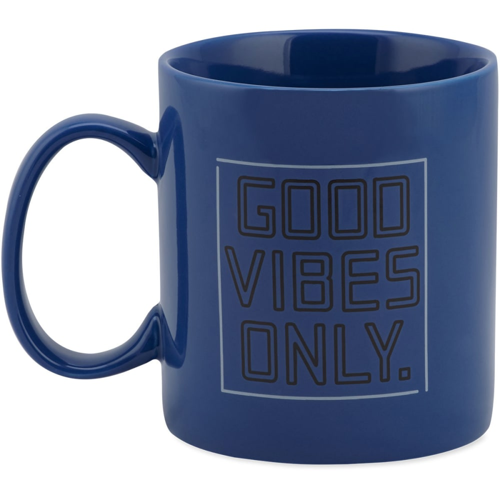 LIFE IS GOOD Good Vibes Only Jake's Mug - SAPPHIRE BLUE